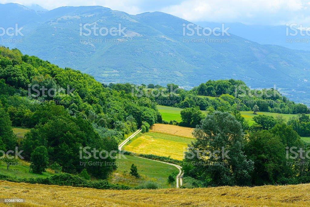 Country landscape in Lazio (Italy) stock photo