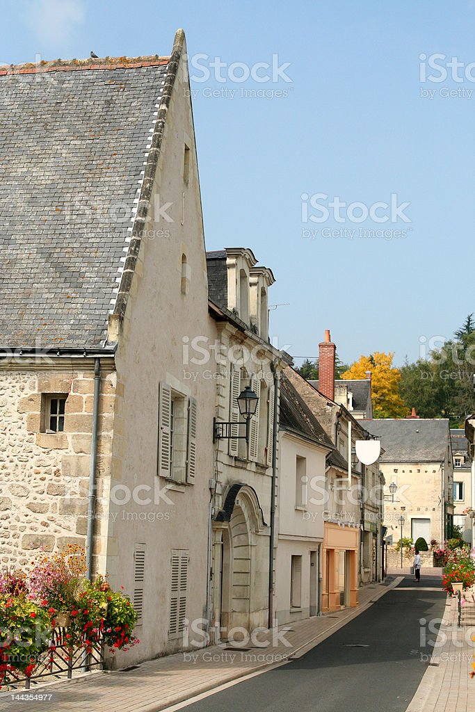 Country lane, Langeais, France royalty-free stock photo