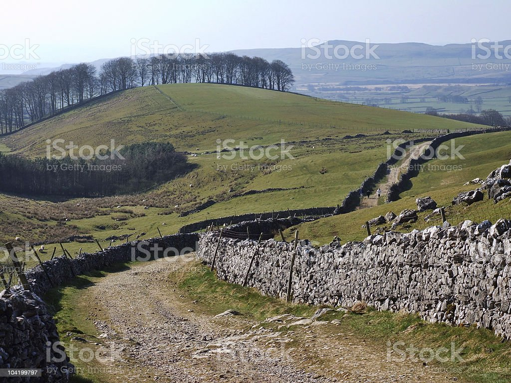 Country lane near Horton in Ribblesdale royalty-free stock photo