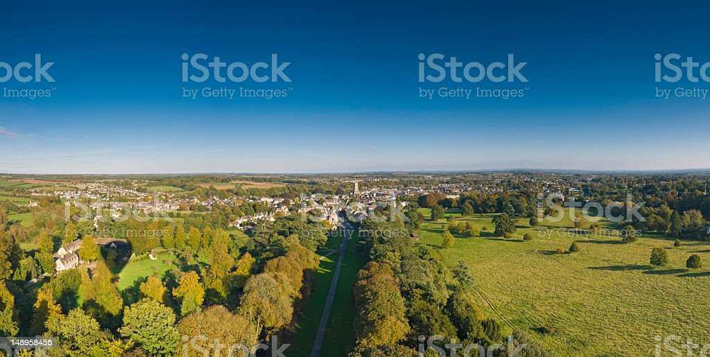 Country life green and blue royalty-free stock photo