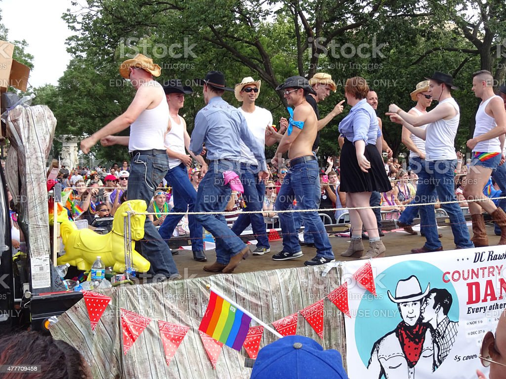 Country Line Dancing stock photo