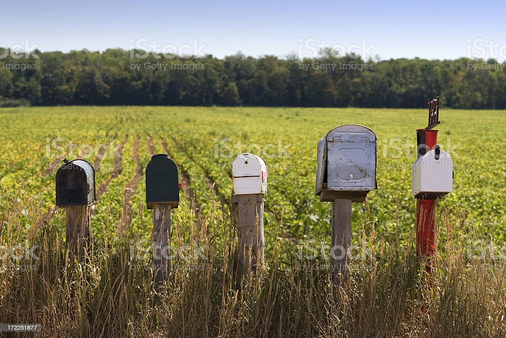 Country Mailboxes royalty-free stock photo