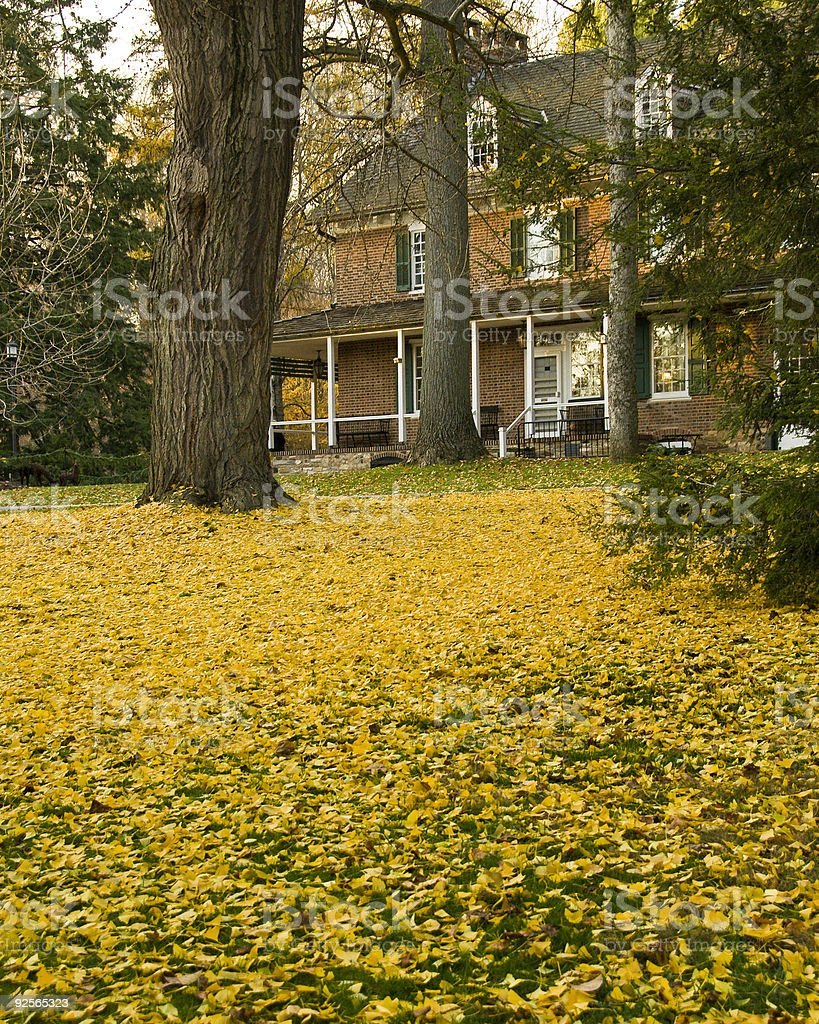 Country Manor in Autumn royalty-free stock photo