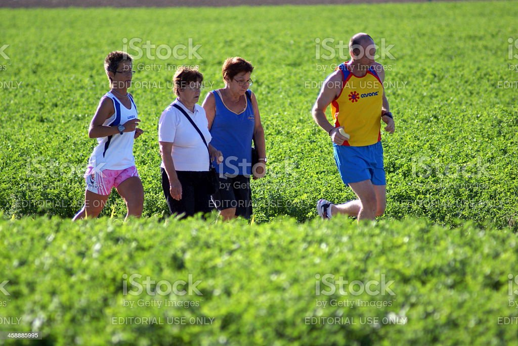 Country march stock photo