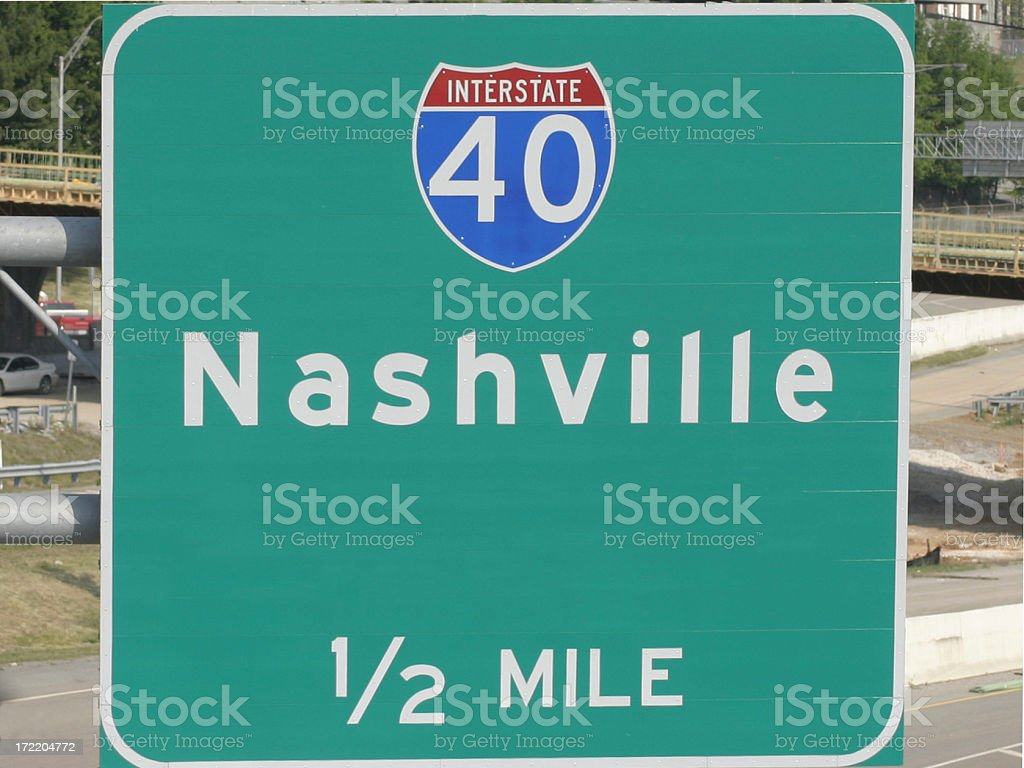 Country Music Dreams, Road to Nashville stock photo