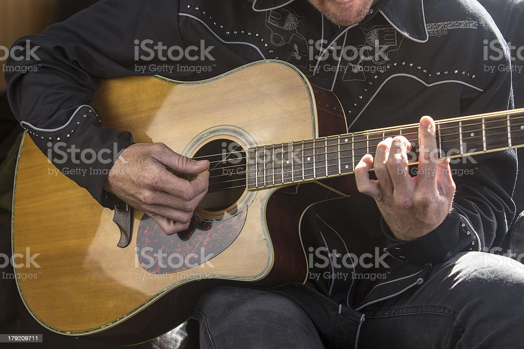 Country Music Guitarist royalty-free stock photo