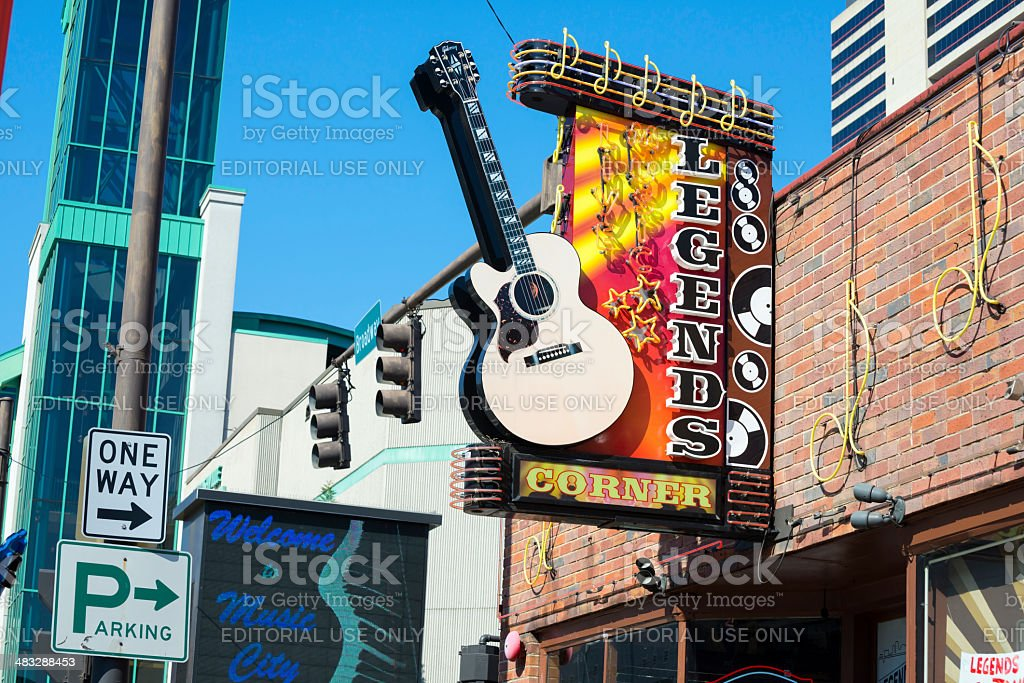 Country music in Nashville royalty-free stock photo