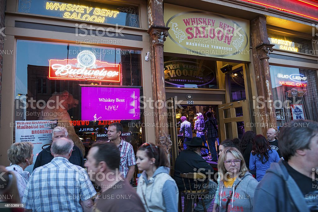 Country music on a Nashville Friday night stock photo