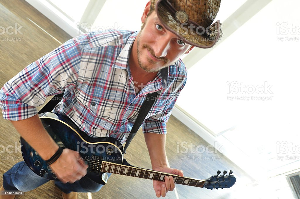 Country musician royalty-free stock photo