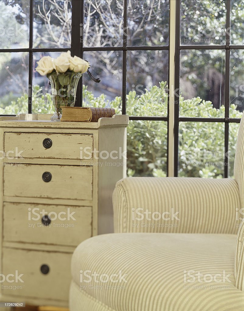 Country Night Stand and Armchair royalty-free stock photo