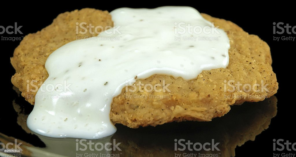 Country or Chicken Fried Beef Steak with Gravy stock photo
