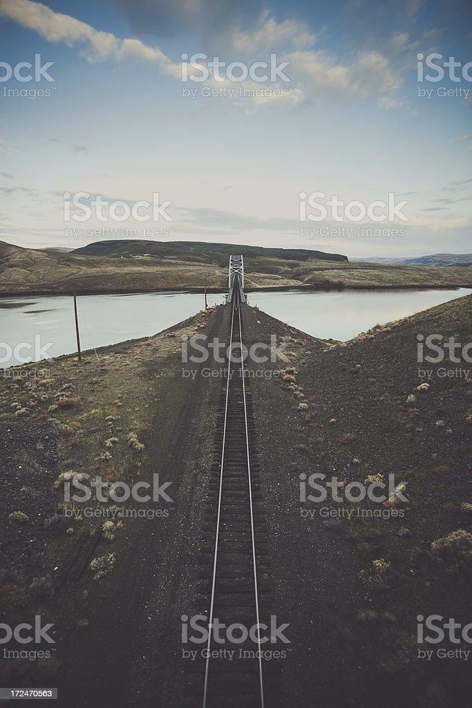 Country Railroad Tracks stock photo