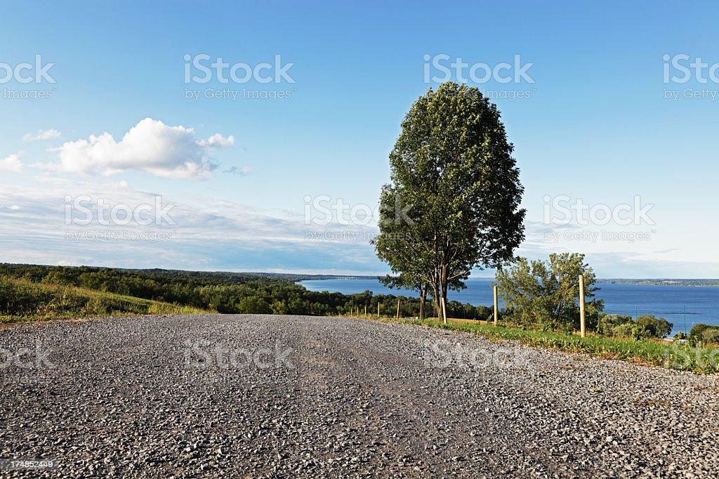 Country Road Above Cayuga Lake royalty-free stock photo