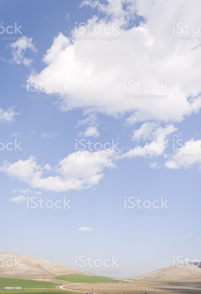 Country Road and Blue Sky royalty-free stock photo