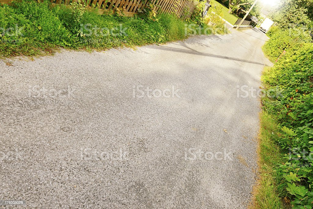 Country road and disappearing truck royalty-free stock photo