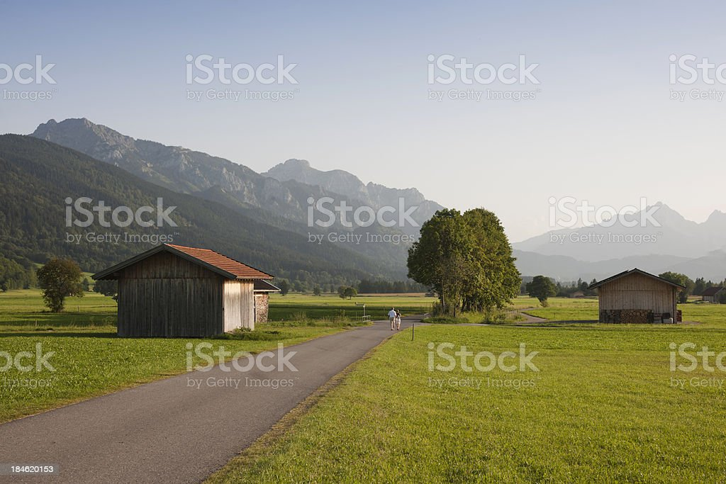 Country road and mountains royalty-free stock photo