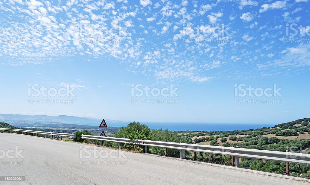 country road by the sea royalty-free stock photo