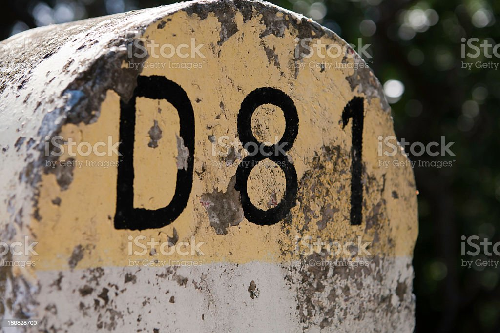 Country Road D 81 stock photo