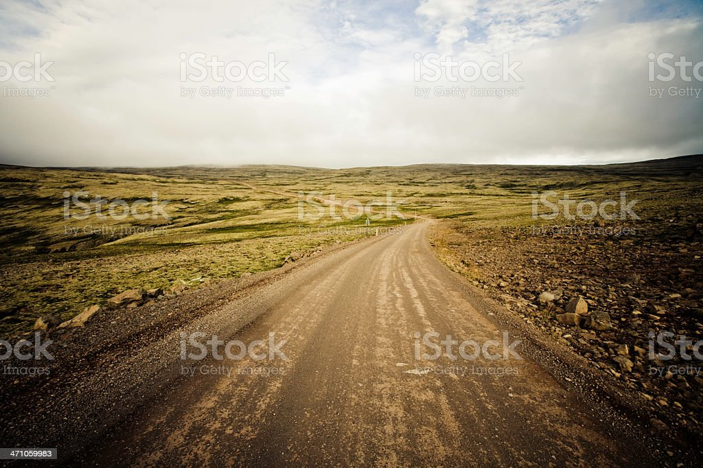 Country Road Iceland royalty-free stock photo