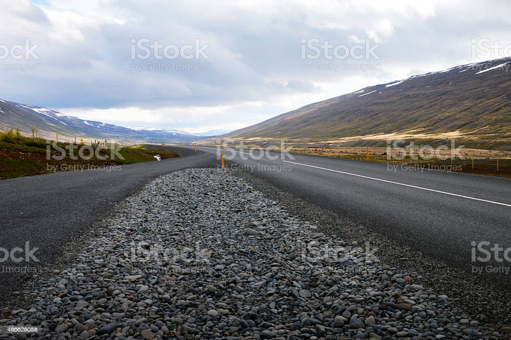 Country road in Iceland stock photo