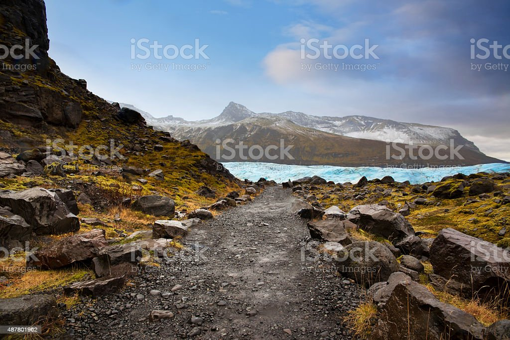 Country road in Iceland. stock photo