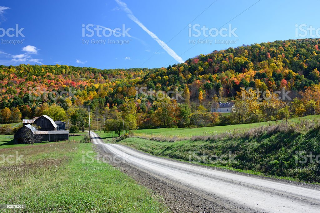 Country Road in Pennsylvania stock photo