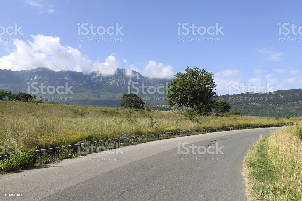 Country road in Summer stock photo