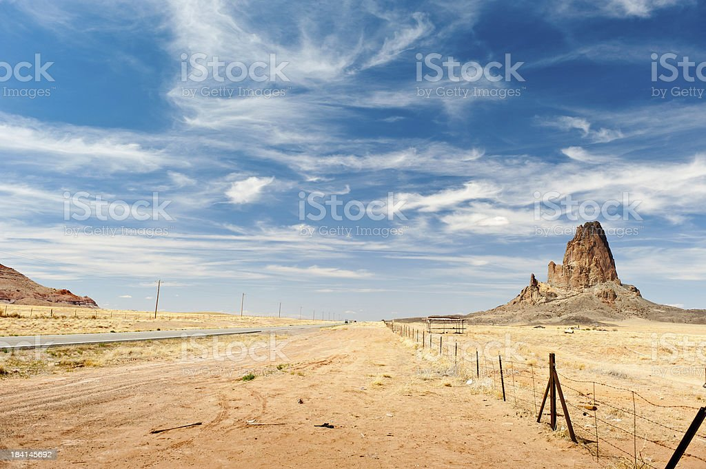 Country road in the desert royalty-free stock photo