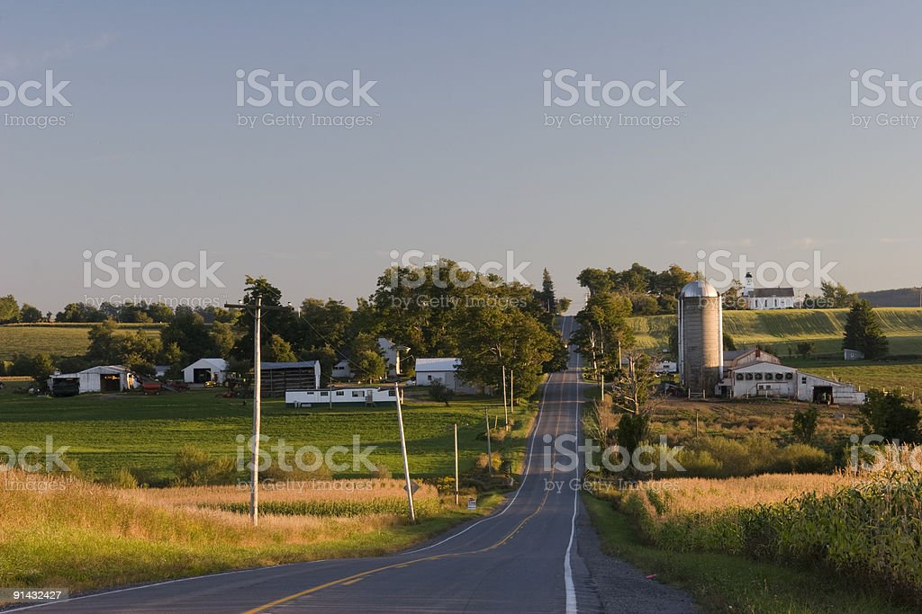 Country Road in the evening royalty-free stock photo