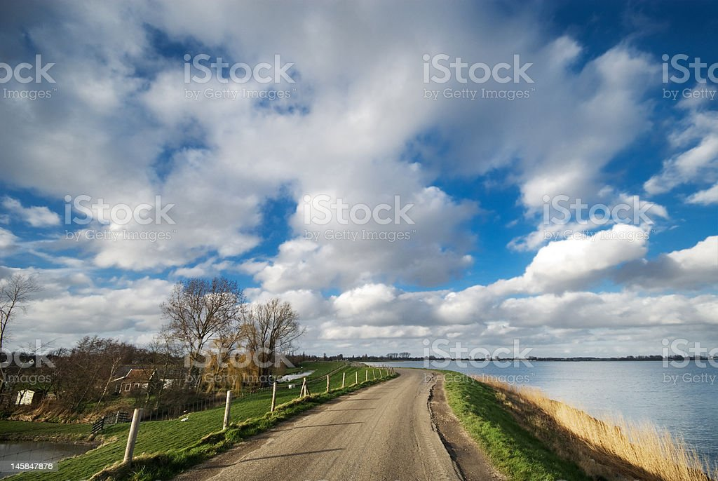 country road in the netherlands royalty-free stock photo