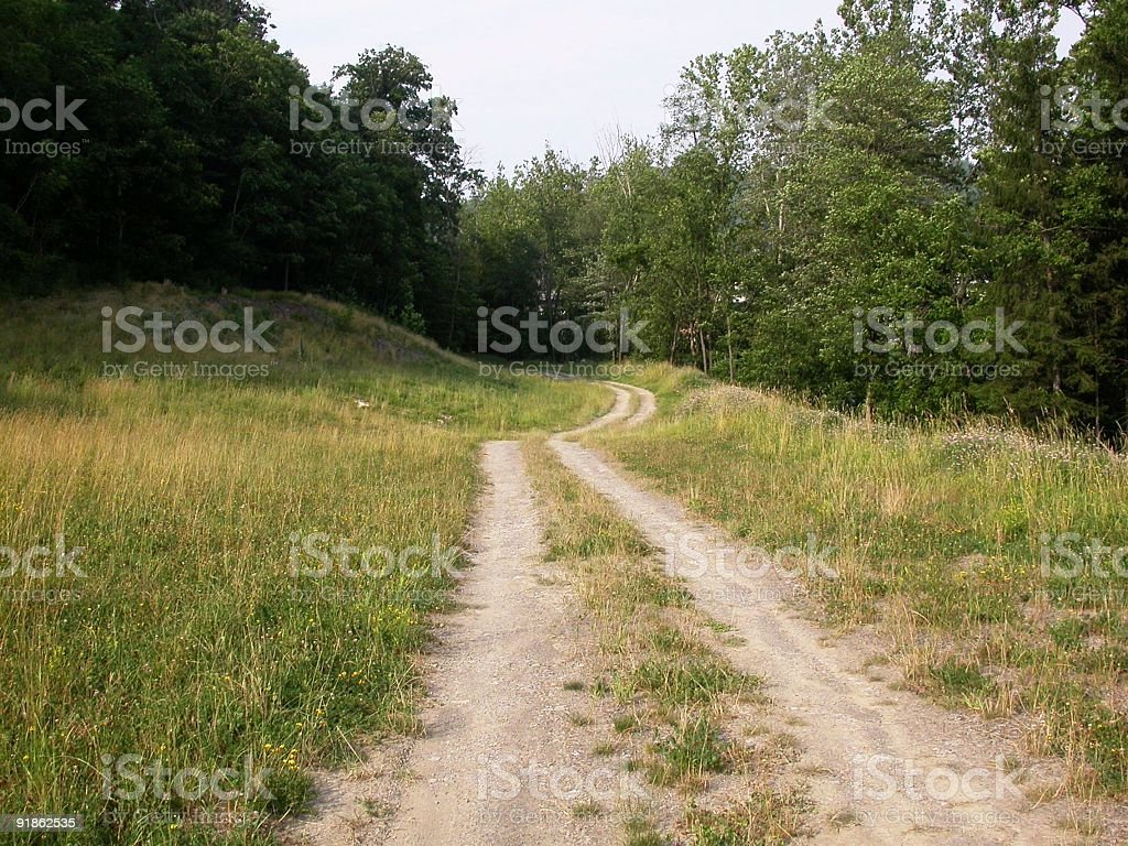 Country Road in West Virginia royalty-free stock photo