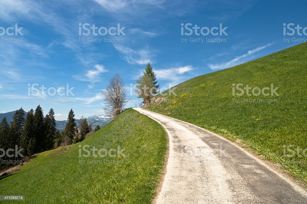 Country Road into the Sky stock photo