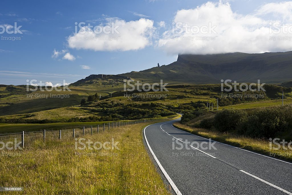 Country Road, Isle of Skye, Scotland, UK royalty-free stock photo