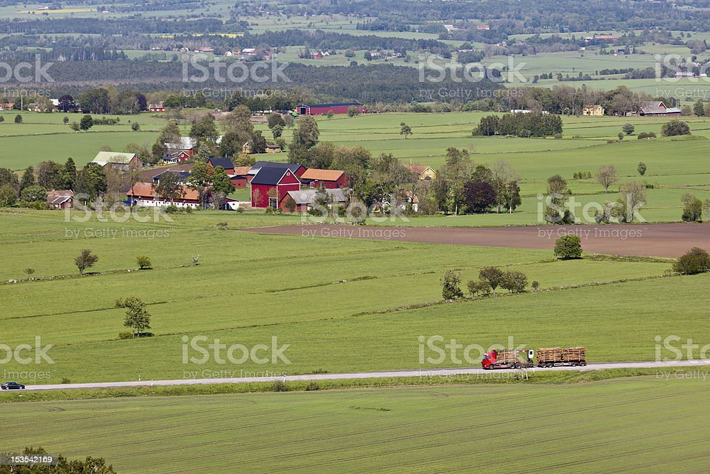 Country road landscape royalty-free stock photo