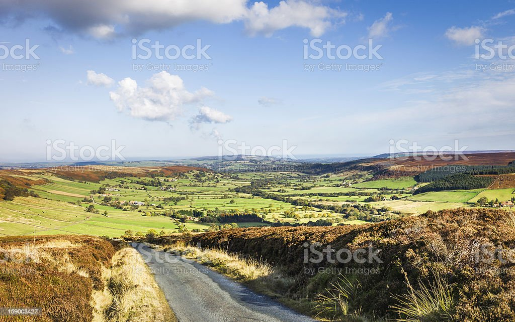 Country road, North York Moors, Glaisdale, Yorkshire, UK. royalty-free stock photo