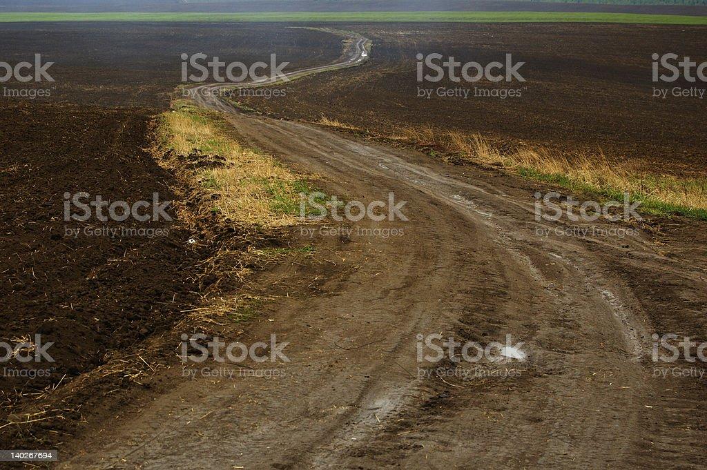 Wiejska droga zbiór zdjęć royalty-free