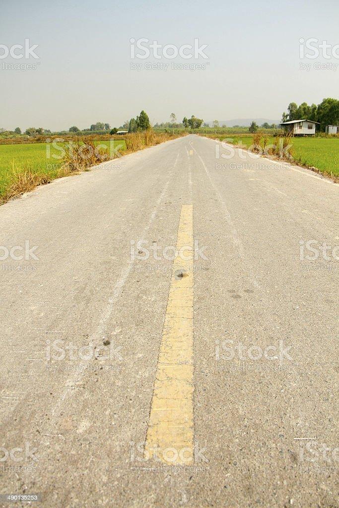 Сельская дорога Стоковые фото Стоковая фотография