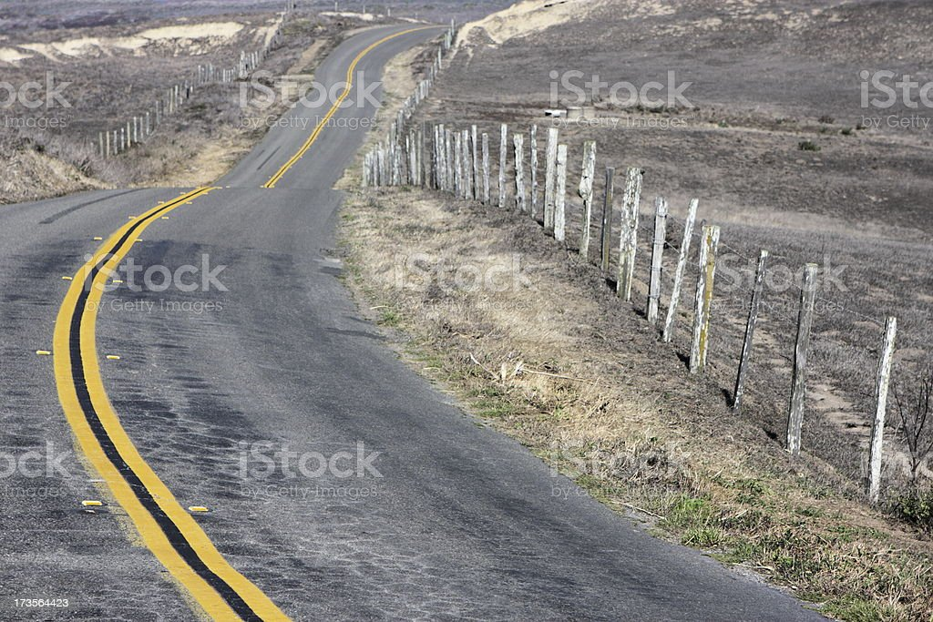 Country Road Point Reyes California stock photo