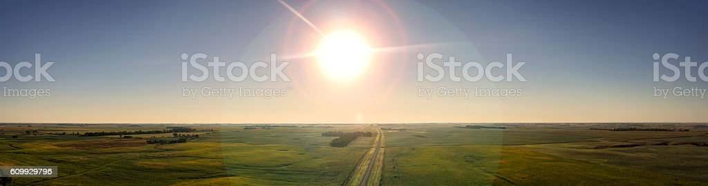 Country Road Sunshine stock photo