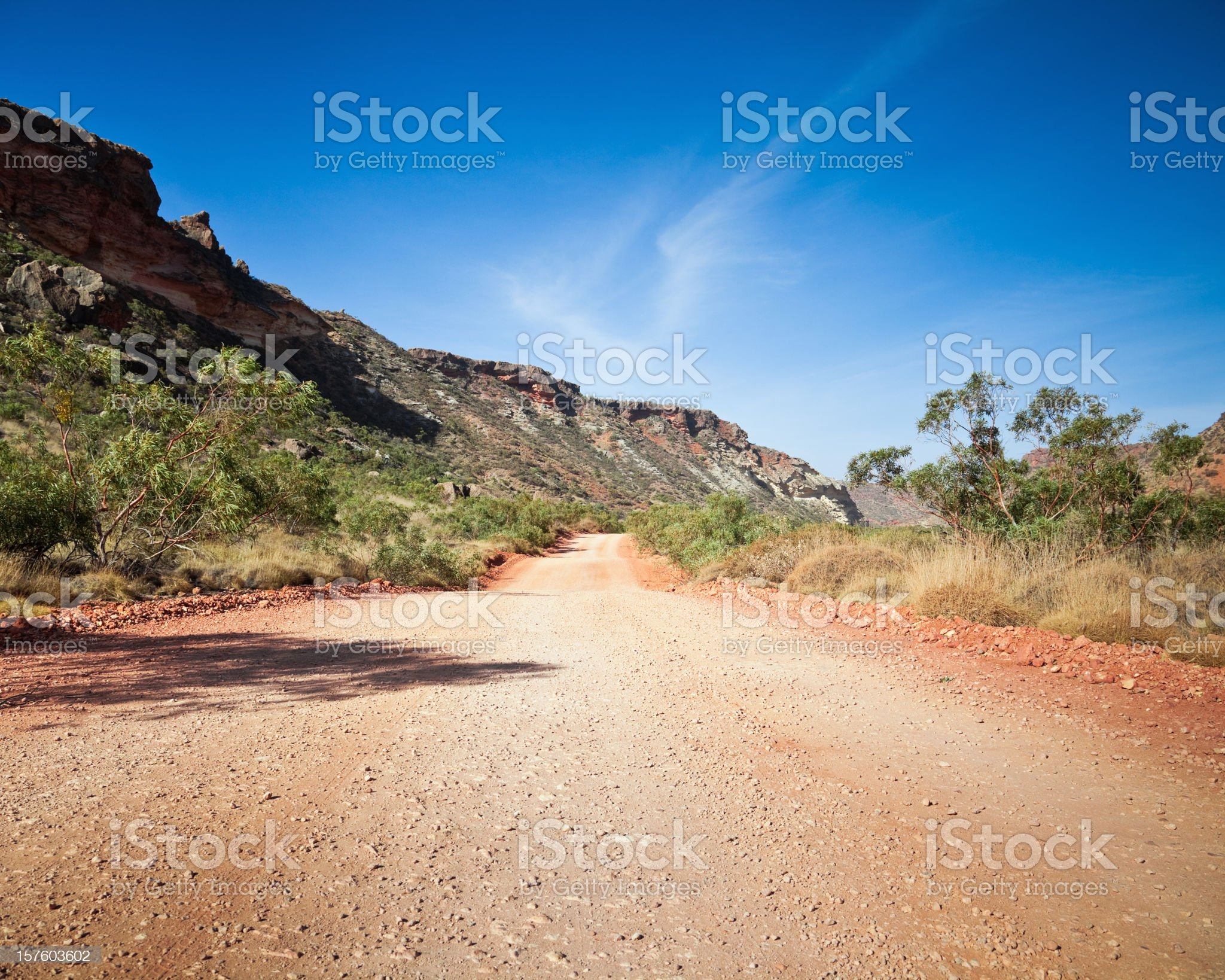 Country Road through Australian Outback royalty-free stock photo