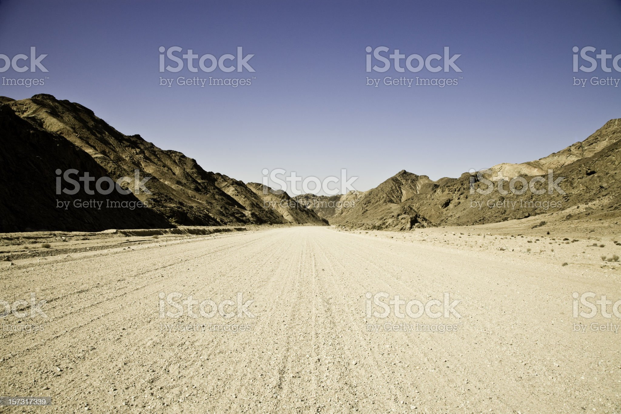 Country Road through Mountains royalty-free stock photo