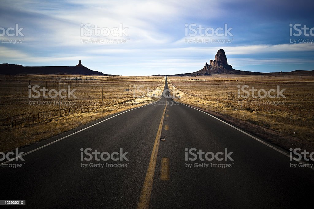 Country Road to the Monument Valley royalty-free stock photo