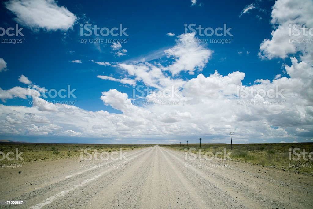 Country Road under Cloudscape royalty-free stock photo