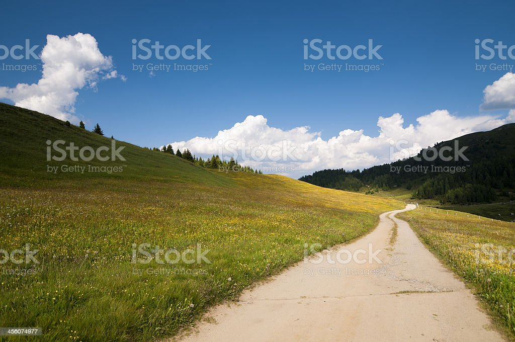 Country road, vibrant colours stock photo