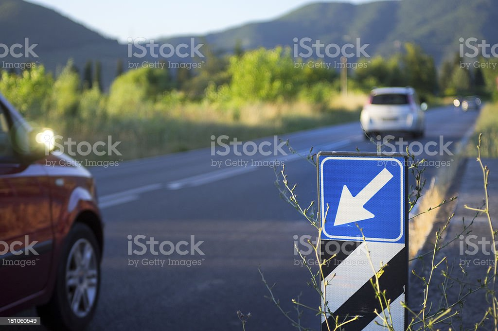 Country road with traffic royalty-free stock photo