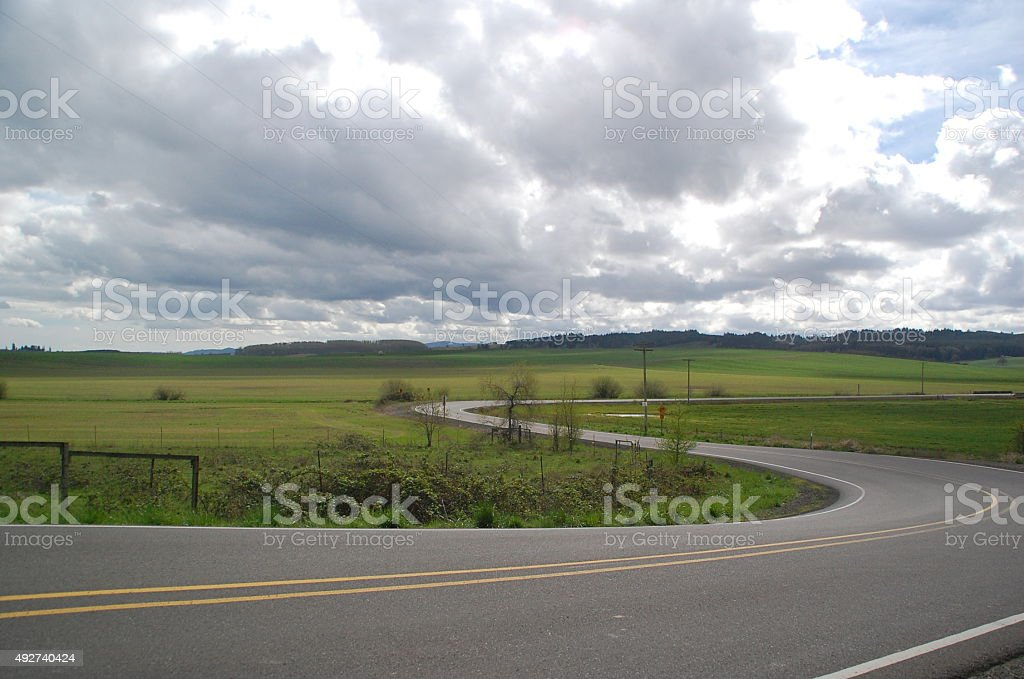 Country Roads stock photo