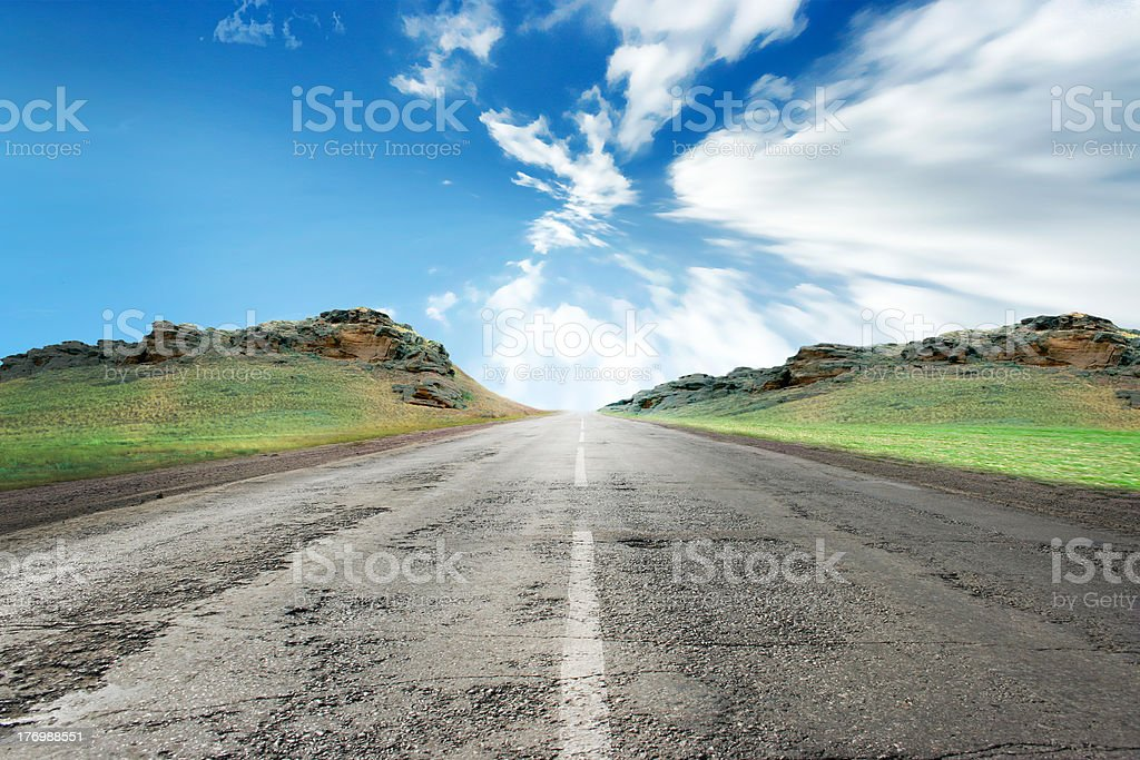 country route royalty-free stock photo