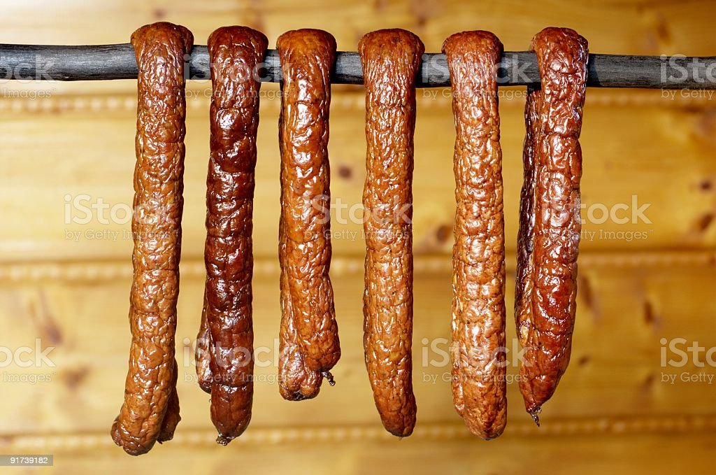 country sausage royalty-free stock photo