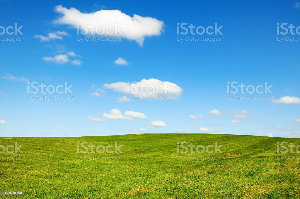 Country Scene on a Sunny Day royalty-free stock photo