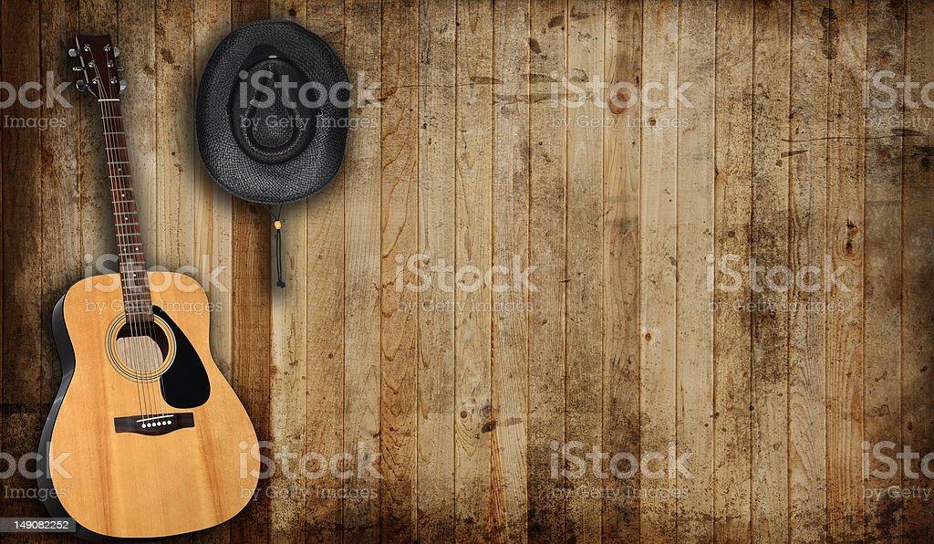 Country scene stock photo